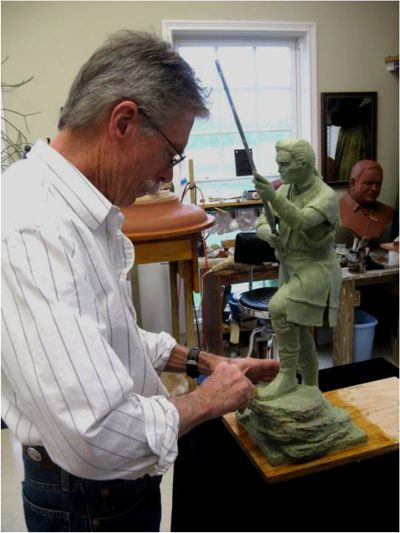 gragg working on boone scale clay
